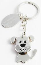 PERSONALISED NODDING DOG KEY RING -  FREE ENGRAVING