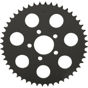 Drag Specialties Gloss Black 530 Chain Coversion Flat Sprocket 48-Tooth Harley
