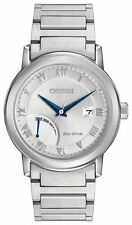 New Men's Citizen Eco Drive  Silver Dial Steel Power Reserve Dress AW7020-51A