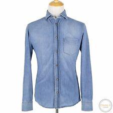 Brunello Cucinelli Blue Denim Washed Leisure Fit Shirt-Jacket Shacket Large