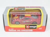 1:43 BURAGO BBURAGO #4168 FERRARI F40 EVOLUZIONE BOXED [QB3-017]