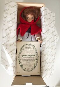 1989 Edwin Knowles Heroines Fairy Tale Little Red Riding Hood Porcelain Doll