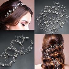 1x Wedding Hair Vine Bridal Crystal Pearl Headband Vintage Hair Accessories 35cm