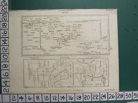 1808 Datato Antico Stampa ~ Astronomia Gradi ~ Diagramma Esempi Su Mappa