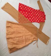 Girls Skirt Lahenga Choli Dress Salwer Kameez Golden Red New