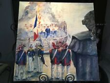 French Oil Painting Signed Napoleon Military Revolution St. Tropez