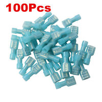 100Pcs Fully Insulated Male & Female Electrical Spade Crimp Connector Terminal