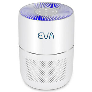 EVA Air Purifier, Quietest Ever 16dB, True HEPA, Active Carbon, Small, Bedroom
