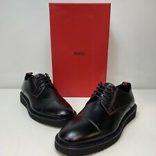 HUGO BOSS District Derby Black Leather Lace Up Mens Oxfords Dress Shoes Size 9