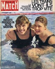 COUVERTURE de MAGAZINE,COVERAGE Paris-Match n° 695 04/08/62 Caron & Vanaker