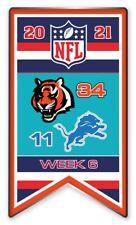 2021 Semaine 6 Bannière Broche NFL Cincinnati Bengals Vs.Detroit Lions Très Bol