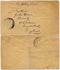 Kenya Kut 1917 WW1 ARMATA OAS mail Mombasa a Whitehaven GB
