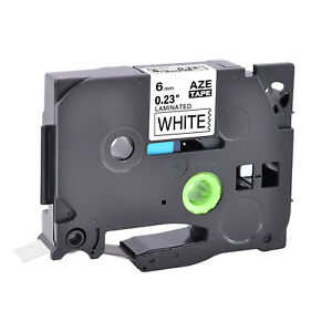 Compatible with Brother TZ-211 TZ211 P-Touch PT-D200 Black On White Label Tape 6