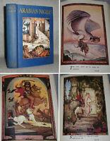 Antique Childrens Book Arabian Nights Fairy Tales EJ Detmold Illustrated 1925
