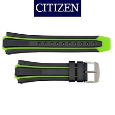 Original CITIZEN Eco Drive Watch Band Strap BN0097-11E S080100 Green /Black