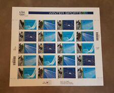 Winter Sports, Full Pane Stamp