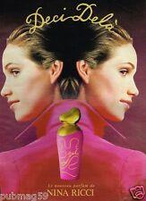 Publicité advertising 1995 Parfum Deci Dela Nina Ricci par William Laxton