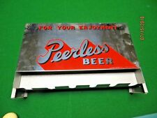 for your enjoyment Peerless Beer swing open top,pool cue wall mount holder,rare