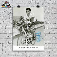 POSTER FAUSTO COPPI CAMPIONISSIMO CICLISMO GIRO D'ITALIA AUTOGRAFO AFFICHE NEW
