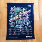 1996 vintage calendar colorful tapestry wall decor hanging art