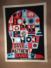 Dave Matthews Band Poster 2012 Hollywood Bowl Signed & Numbered  #/900 DMB