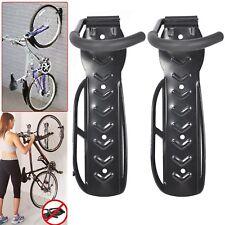 2x Bike Storage Wall Mounted Hook Bicycle Steel Rack Hanger Holder Garage Stand