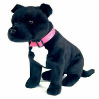 ~❤️~BOCCHETTA Staffy DJ Bull Terrier 32cm black white Staffie soft toy~❤️