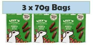 Lily's Kitchen Dog Puppy Treat Cracking Pork & Apple Sausages Training 70g x 3