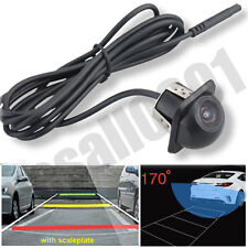 Car Rear Side Mirror 170° Wide-angle View CCD Front Backup Parking Hole Camera