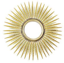"""Specchio moderno da parete """"Sole"""" cornice in metallo, CM. Ø 89 in tolate"""