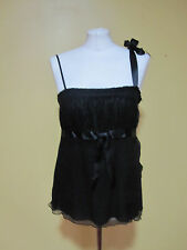 Black strappy  vest top Whistles size S