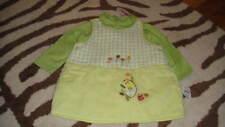 NWT NEW BABYMINI CATIMINI 12M/74 GREEN DRESS SHIRT SET KIPIC LE HERISSON