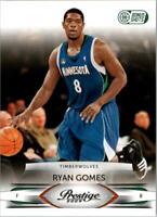 2009-10 Prestige Bonus Shots Green #60 Ryan Gomes /25 - NM-MT