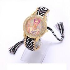 Frida kahlo Mexican artist Jewerly  Geneva women watch bracelet handwoven Quartz