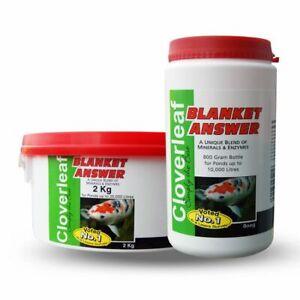 CLOVERLEAF BLANKET ANSWER 200g,800g,2kg,4kg KOI FISH POND BLANKET WEED TREATMENT