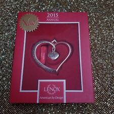 """Lenox 2015 Collector's Silverplate Ornament """"Our First Christmas"""" - New In Box"""