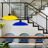 Industrial Pendant Ceiling Light  Bar Loft Hanging Light Metal Fixture Lampshade