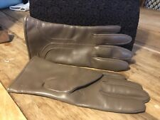 Ladies vintage Beige  Vinyl gloves Size S/M