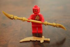 1 x LEGO Minifig Mini Figure RED Kai Ninja Ninjago NRG Gold Sword & Weapon