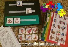 156 Laminate Visual Pic Symbol Cards Communication Book, Autism ASD ADHD Apraxia