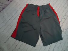 Unipro Qwick-Dry Men's Gray / Red Shorts Drawstring Elastic Waist Size M 32 - 34