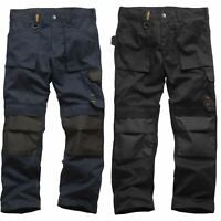 Scruffs Worker Work Trousers Non-Holster Black Navy Hard Wearing Trade Trouser