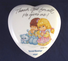 Special Blessings THANK GOD FOR ALL HE GIVES US Keepsake Trinket Box Heart Shape