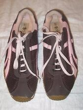 Women's Brown & Pink Lace Up Soho Sneakers Size 8.5