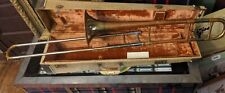 GETZEN TROMBONE SUPER DELUXE TONE BALANCED COPPER CASE ANTIQUE-VTG SERIAL #62106