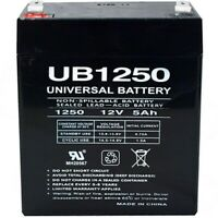 UB1250 12V 5AH SLA Battery Replacement for Quantum QR5FF Telephone Entry Unit