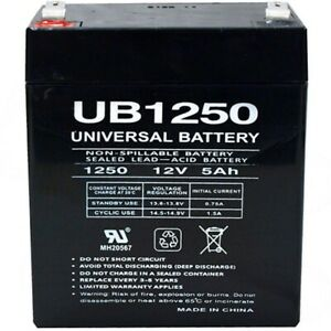 NEW UPG UB1250 12V 5AH Security Alarm Battery Replaces 4Ah DSC BD412