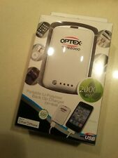 Optex Portable Li-Polymer Back Up Battery Charger 2000mAh. Charge on the run!
