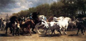 Horse Fair  by Rosa Bonheur   Giclee Canvas Print Repro