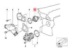Genuine BMW E34 E36 E38 E39 Z3 Engine Coolant Thermostat OEM 11537511083